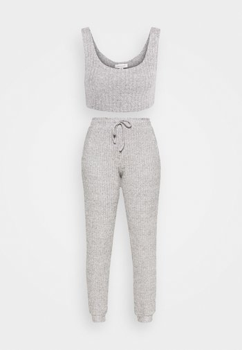 COSY BRUSHED SET - Tracksuit bottoms - grey
