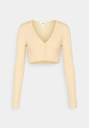 DORIS CROPPED CARDIGAN - Cardigan - yellow