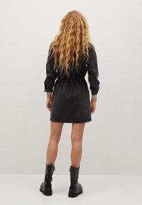 Mango - LUNA - Denim dress - black denim - 2