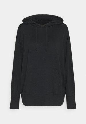 REGULAR FIT HOODIE WITH FRONT POCKET - Mikina s kapucí - black