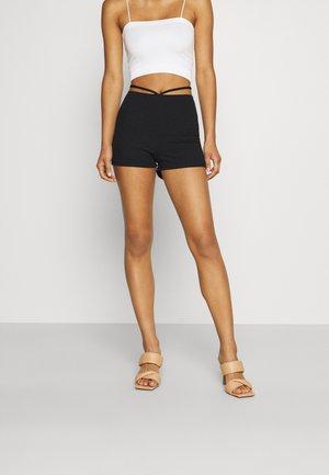 STRING DETAIL - Shorts - black
