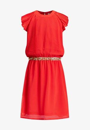 MET PAILLETTEN - Korte jurk - red