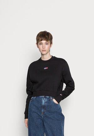 CROP TINY - Sweatshirt - black