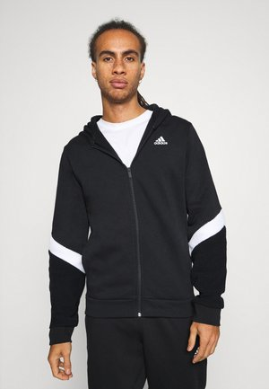 WINTERIZED SPORTS TRACKSUIT SET - Tracksuit - black/white