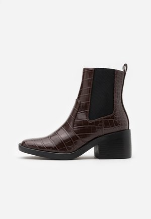 ONLBLUSH STRUCTUR BOOT  - Classic ankle boots - brown