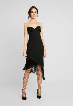 BANDEAU TASSLE HEM BODYCON DRESS - Koktejlové šaty/ šaty na párty - black