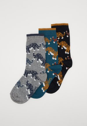 KIDS SOCKS LITTLE TIGER 3 PACK  - Socks - grün/navy/grau