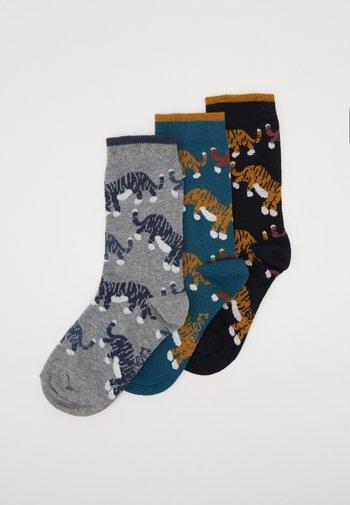 KIDS SOCKS LITTLE TIGER 3 PACK  - Socks - grün/navy/grau