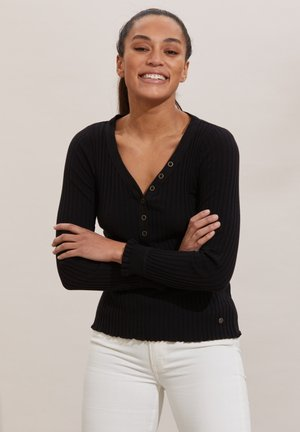 LINDSAY - Long sleeved top - almost black