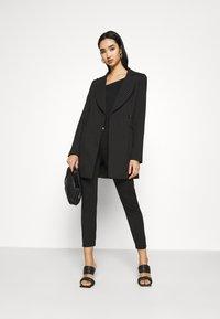 Even&Odd - Slim Fit Punto Trousers - Bukser - black - 3