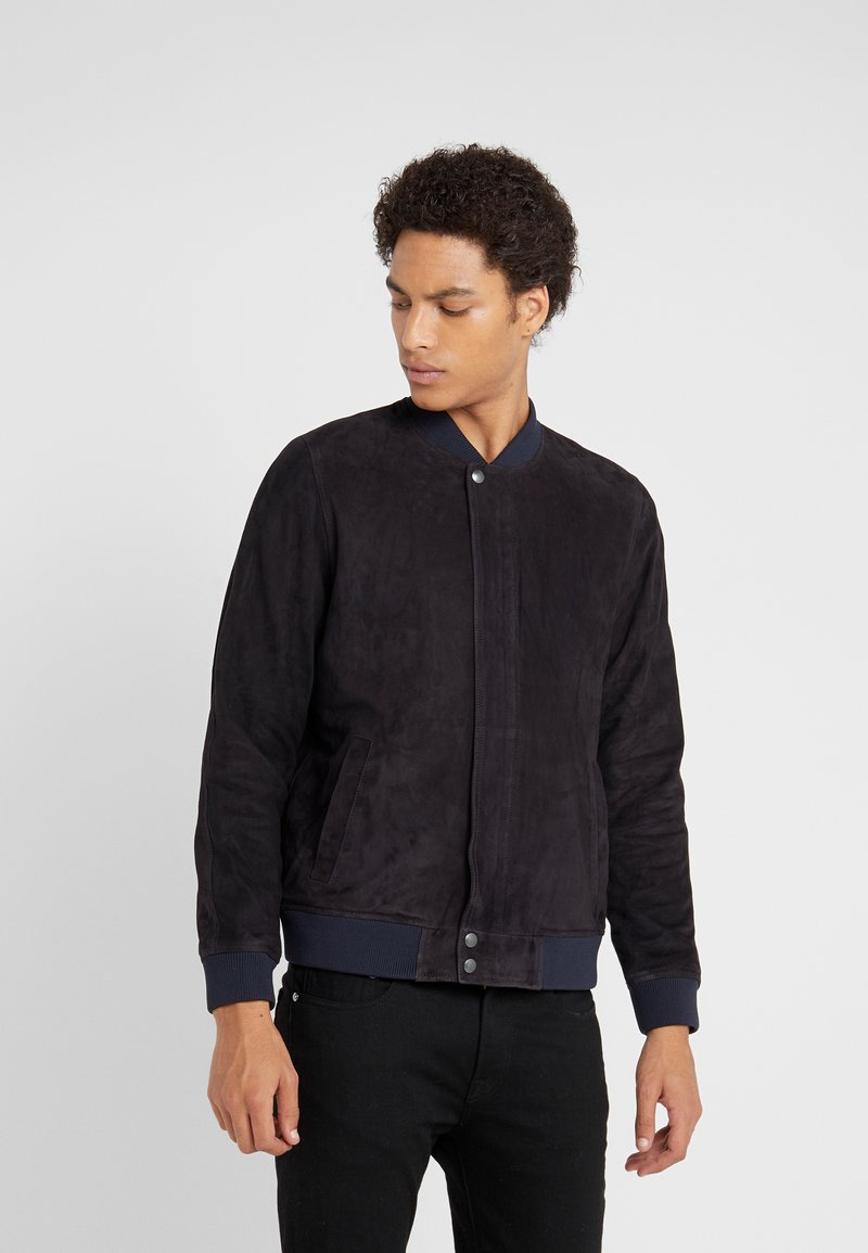Editions MR - JEAN PAUL JACKET - Leather jacket - navy