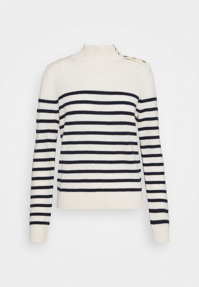 MONTSI - Pullover - ecru/marine