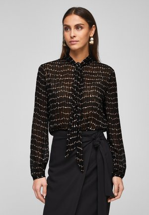Blouse - black croco print