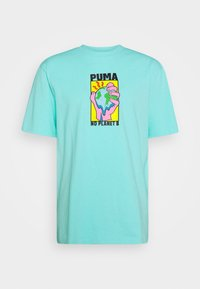 DOWNTOWN GRAPHIC TEE - Print T-shirt - aruba blue