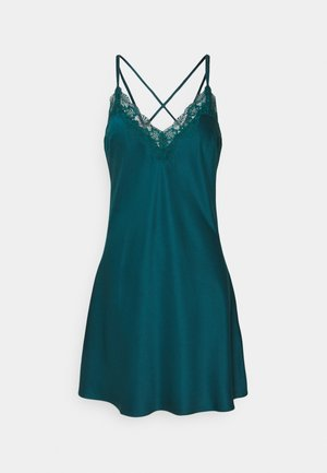 LACE TRIM SATIN NIGHTIE  - Nightie - dark green