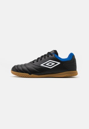 TOCCO CLUB IC - Indoor football boots - black/white/victoria blue
