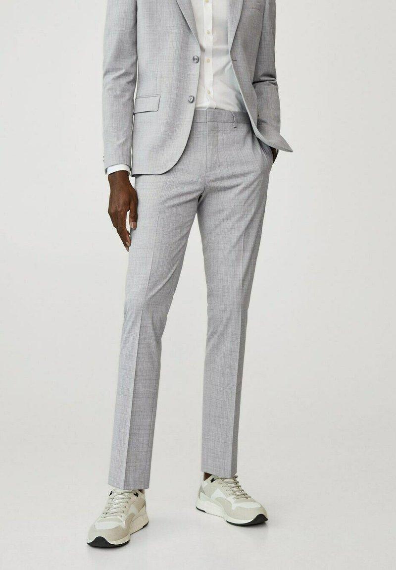 Mango - Suit trousers - gris moyen
