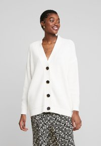 Selected Femme - SLFBAILEY BUTTON CARDIGAN - Gilet - snow white - 0