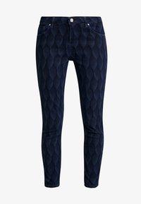 Yargici - PRINTED TROUSER - Slim fit jeans - dark indigo - 4