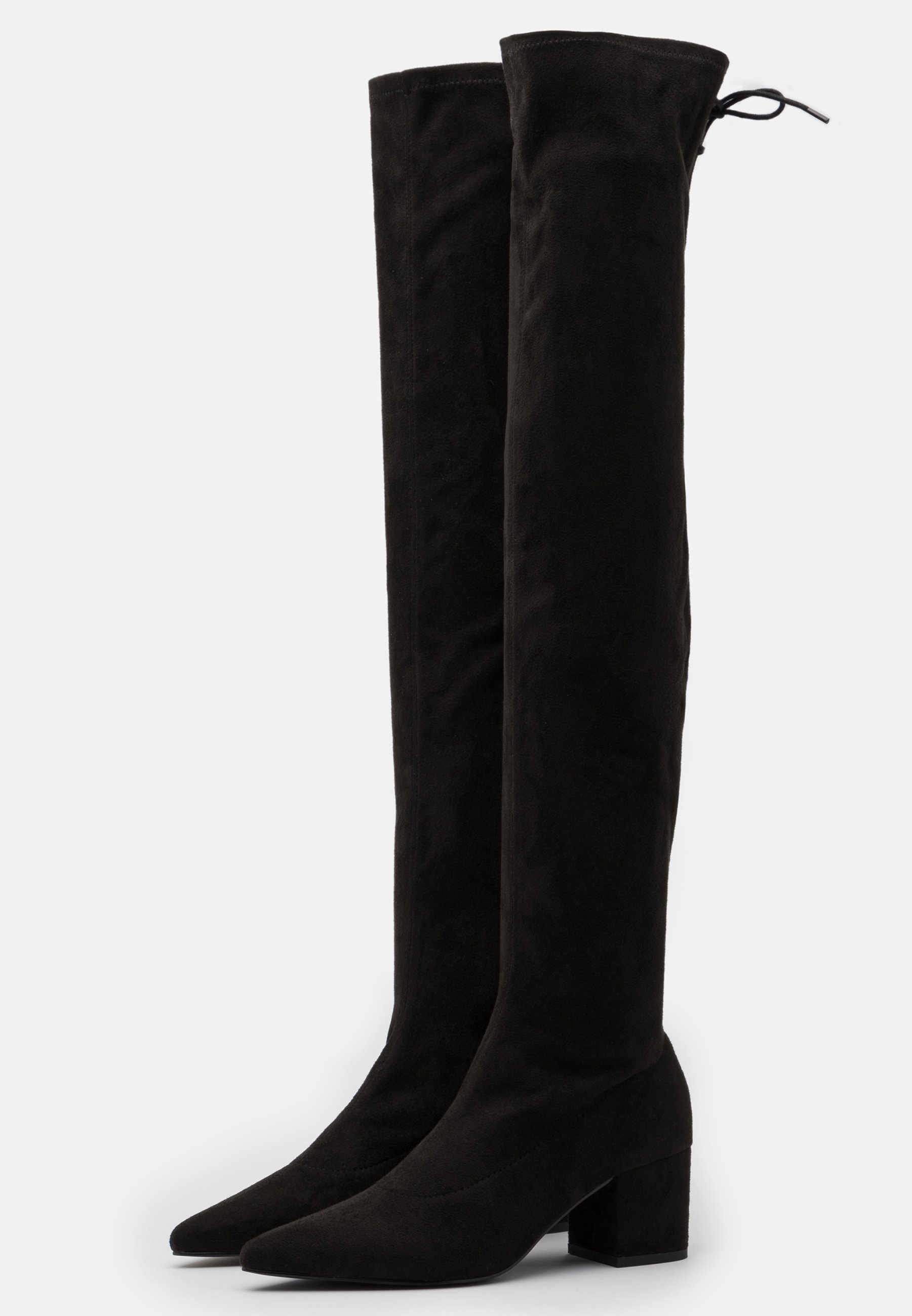 Nly by Nelly BLOCK HEEL THIGH BOOT Overknees black/schwarz