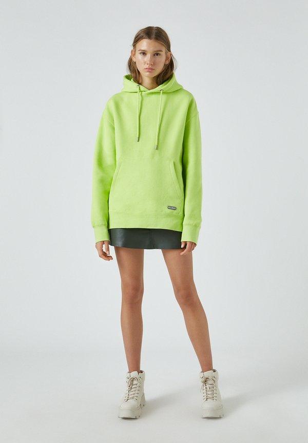 PULL&BEAR Bluza z kapturem - light green/jasnozielony Odzież Męska ZSLE