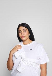 Fila Plus - EARA TEE - T-shirt basic - bright white - 3