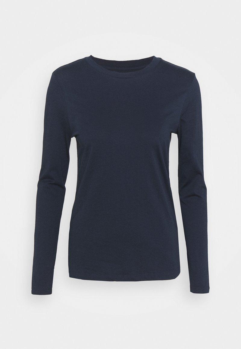 Marks & Spencer London - STRAIGHT CREW - Long sleeved top - dark blue