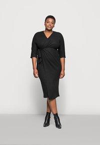 River Island Plus - Jumper dress - black - 1