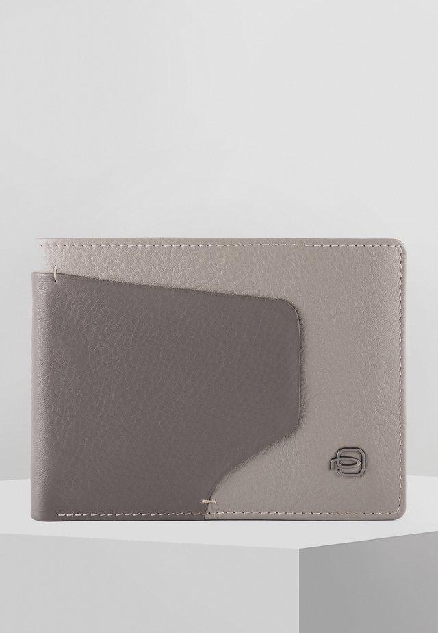 PIQUADRO AKRON GELDBÖRSE RFID LEDER 13 CM - Geldbörse - grey