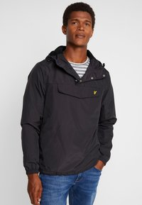 Lyle & Scott - OVERHEAD ANORAK - Light jacket - true black - 0