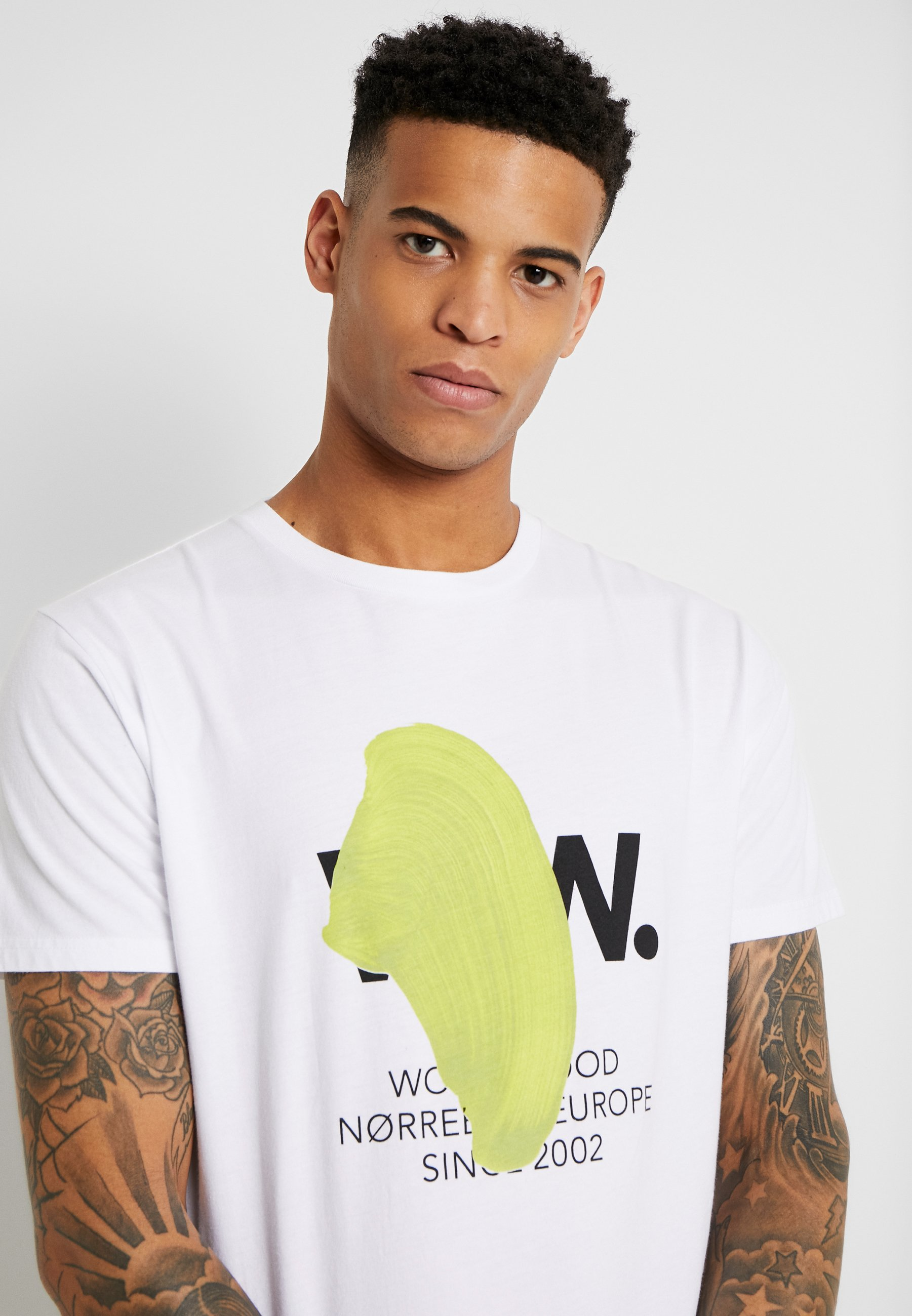 Wood Wood WWBLOB  - T-shirt imprimé - bright white