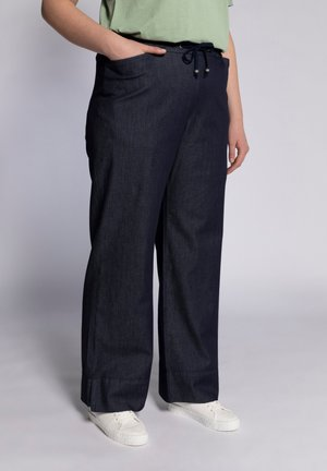 MARLENE - Trousers - dark blue denim