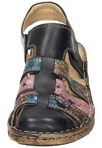 Comfortabel - Wedge sandals - schwarz/bunt - 4