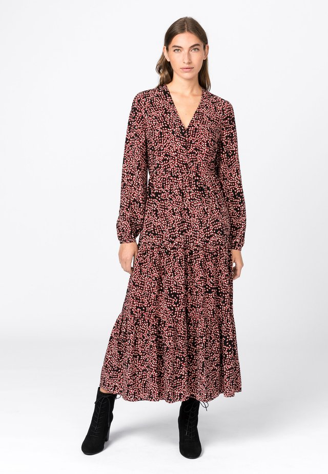 MIT TUPFENPRINT - Day dress - light brown