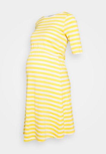 Jersey dress - white/yellow