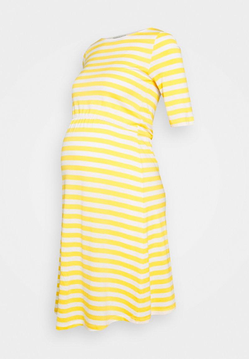 Anna Field MAMA - Jerseykjole - white/yellow