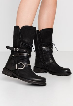 COOPER - Cowboy/Biker boots - morat/uraco black