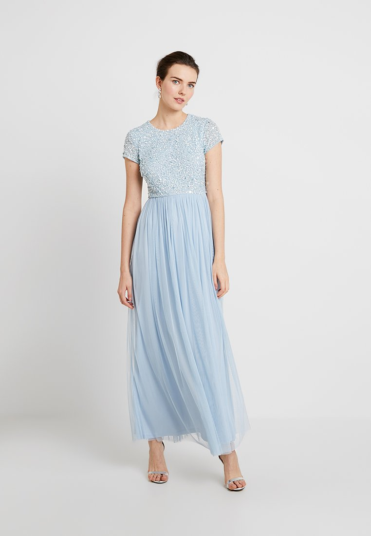 Lace & Beads - PICASSO CAP SLEEVE - Vestido de fiesta - powder blue