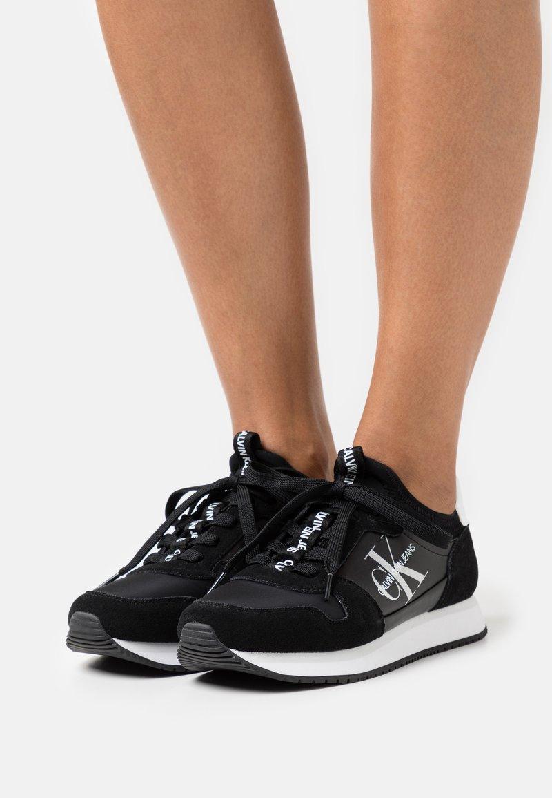 Calvin Klein Jeans - RUNNER SOCK LACEUP  - Trainers - black