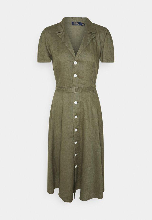 Sukienka koszulowa - basic olive
