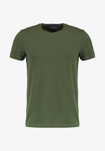 STRETCH SLIM FIT TEE - Basic T-shirt - green
