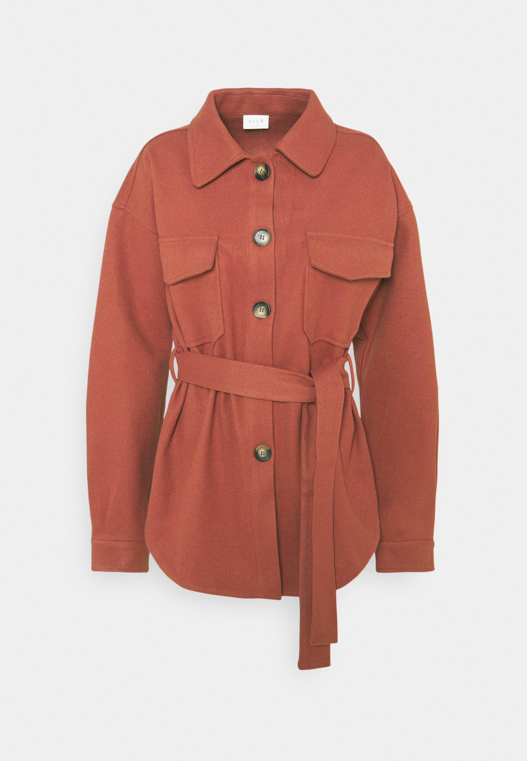 Women VIOLA BELT SHAKET - Short coat