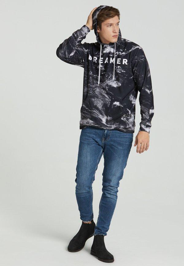 Mr. GUGU & Miss GO DREAMER - Bluza z kapturem - black/czarny Odzież Męska IKTT