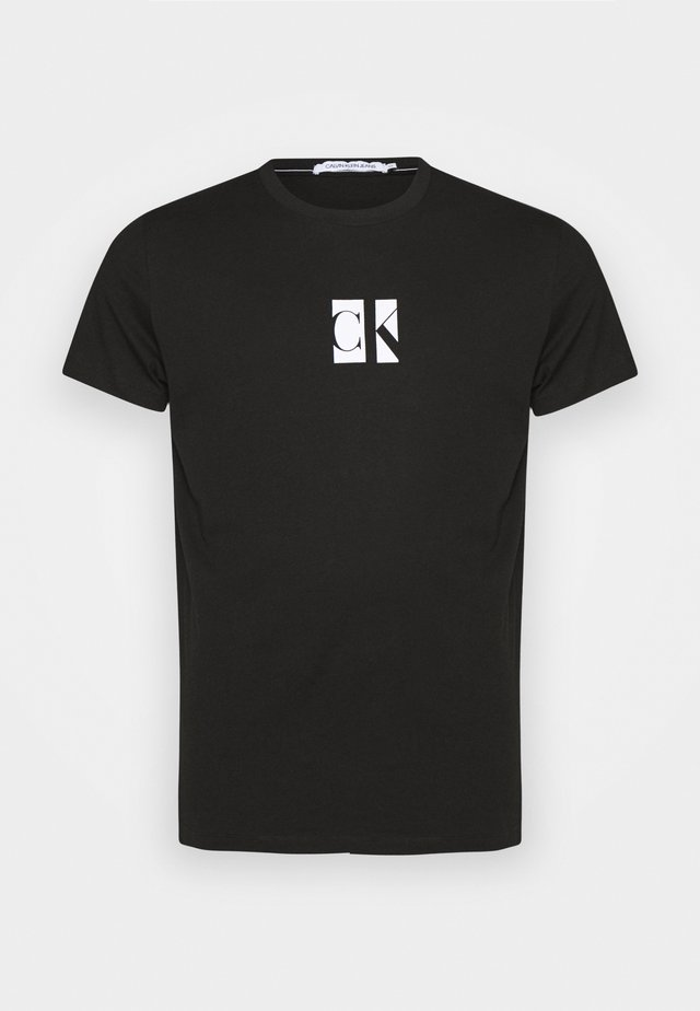 SMALL CENTER BOX TEE - T-shirt med print - black