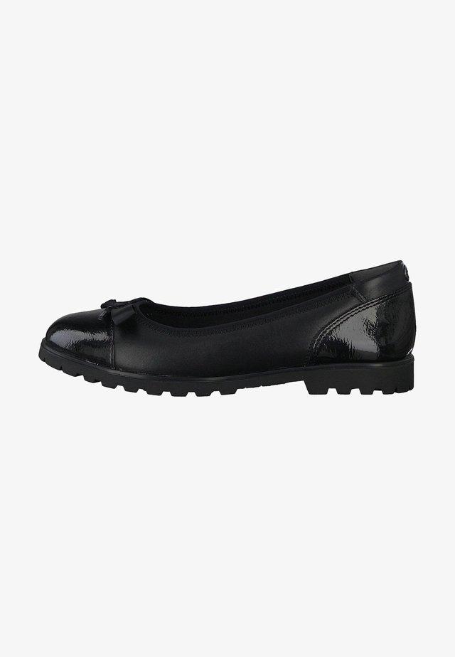 Ballet pumps - BLACK LEATHER