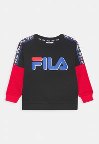 Fila - DIEGO TAPED LOGO CREW - Sweater - black/true red - 0