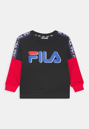 DIEGO TAPED LOGO CREW - Sweater - black/true red