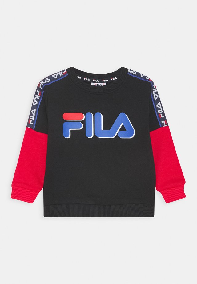 DIEGO TAPED LOGO CREW - Felpa - black/true red