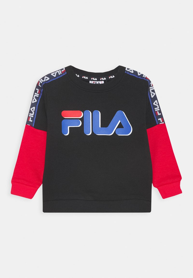 Fila - DIEGO TAPED LOGO CREW - Sweater - black/true red