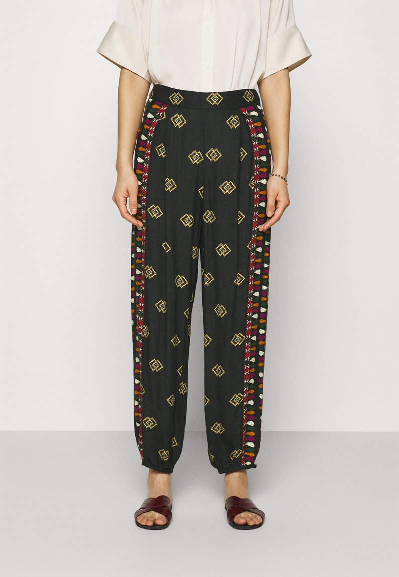Farm Rio - GRAPHIC SHINE PANTS - Kalhoty - multi